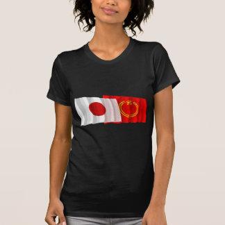 Japan & Niigata Waving Flags T-shirt