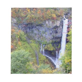Japan, Nikko. Kegon waterfall of Nikko, a UNESCO Notepad