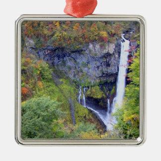 Japan, Nikko. Kegon waterfall of Nikko, a UNESCO Silver-Colored Square Decoration