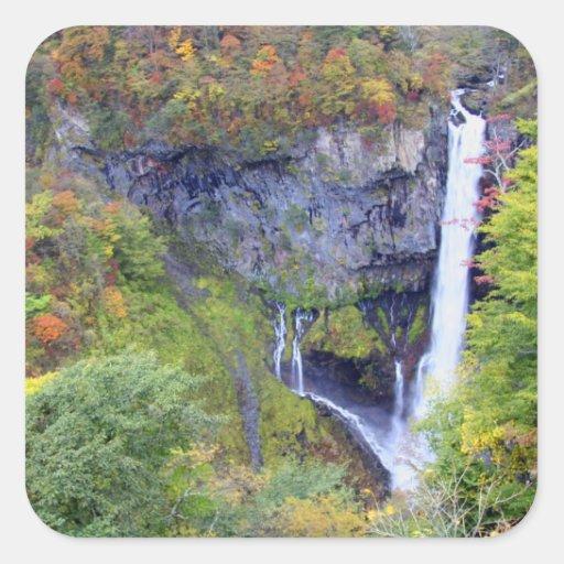 Japan, Nikko. Kegon waterfall of Nikko, a UNESCO Stickers