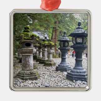 Japan, Nikko. Toshogu Shrine and mausoleum in Silver-Colored Square Decoration