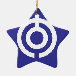 Japan-Okinawa Flag Christmas Ornament