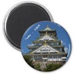 Japan Osaka Burg Schloss 6 Cm Round Magnet