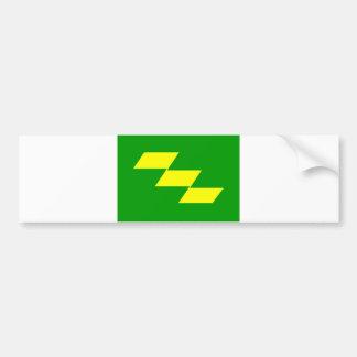 japan prefecture region flag county miyazaki bumper sticker