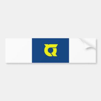japan prefecture region flag county tokushima bumper sticker
