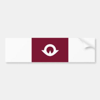 japan prefecture region flag county yamaguchi bumper sticker