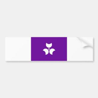 japan prefecture region flag district gunma county bumper stickers