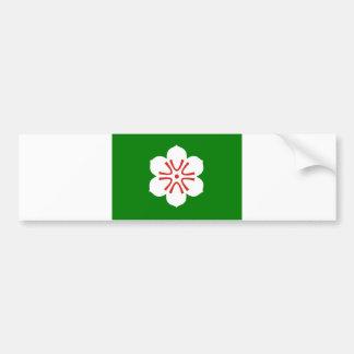 japan prefecture region flag district saga county bumper stickers