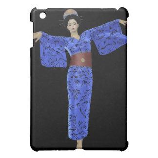 Japan Relief - Blue Kimono Geisha  iPad Mini Covers