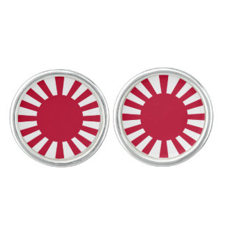 Japan Rising Sun Flag Cuff Links
