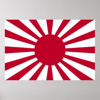 Japan Rising Sun Flag Poster