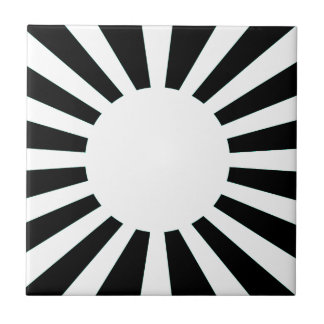 Japan Rising Sun Flag Tile