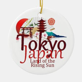 JAPAN ROUND CERAMIC DECORATION