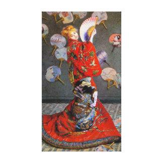 Japan S Camille Monet, by Claude Monet Gallery Wrap Canvas