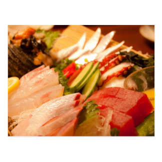 Japan Sashimi Postcard