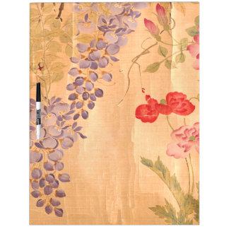 Japan Scroll Art Wisteria Rose Flower Floral Board Dry-Erase Board