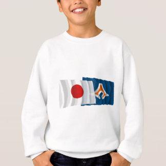 Japan & Shizuoka Waving Flags Sweatshirt