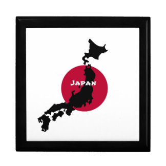 Japan Silhouette Large Square Gift Box