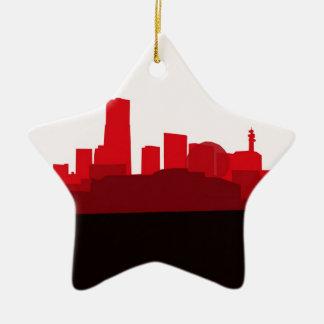 Japan Skyline Christmas Tree Ornament