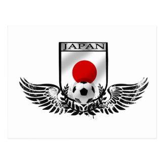 Japan Soccer Winged Emblem Shield Postcard