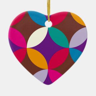 "japan texstyle ""shipo"" blue ceramic heart decoration"