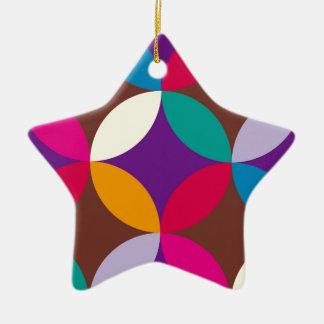 "japan texstyle ""shipo"" blue ceramic star decoration"