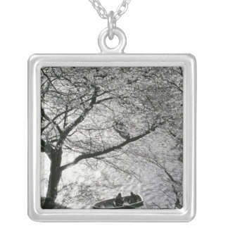 Japan, Tokyo. Cherry blossoms in the Imperial Silver Plated Necklace