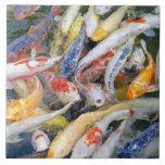 Japan, Tokyo, close-up swimming fish Large Square Tile