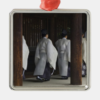 Japan, Tokyo, Meiji Shrine Autumn Festival Silver-Colored Square Decoration