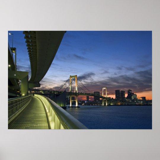 Japan. Tokyo. Rainbow Bridge in Tokyo Bay. Poster
