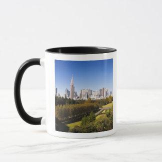 Japan. Tokyo. Shinjuku District Skyline and Mug