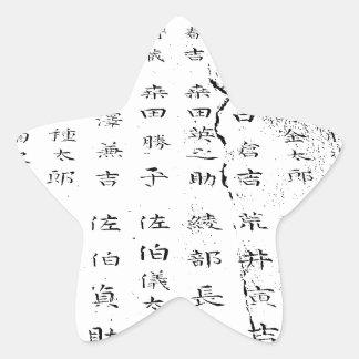 """""""Japan top modern artist tokyo clono art 2016 """" Star Sticker"""
