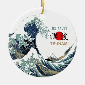 Japan Tsunami 2011 Round Ceramic Decoration