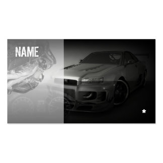 japan tuning sport car pack of standard business cards