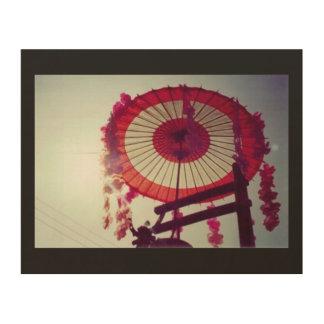 Japan Umbrella (Takayama Festival 2002) Sunrise Wood Print