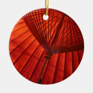 Japan Umbrella Tea K Bangasa White Round Ceramic Decoration