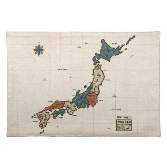 Japan - Vintage Map Placemat