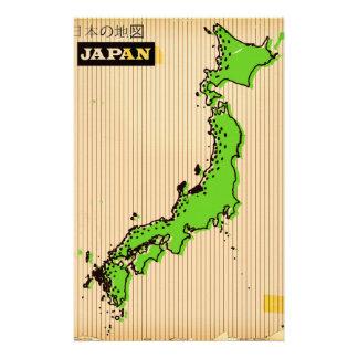 Japan vintage style travel poster stationery