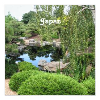 Japan Water Garden 13 Cm X 13 Cm Square Invitation Card