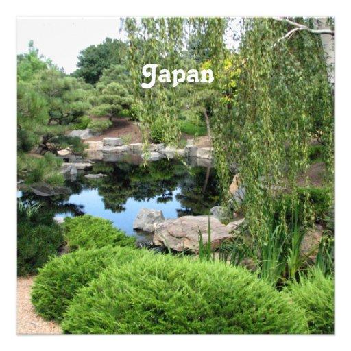 Japan Water Garden Invitation