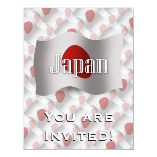 Japan Waving Flag 11 Cm X 14 Cm Invitation Card