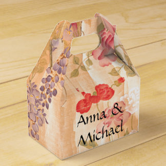 Japan Wisteria Rose Flowers Floral Favor Box Wedding Favour Boxes
