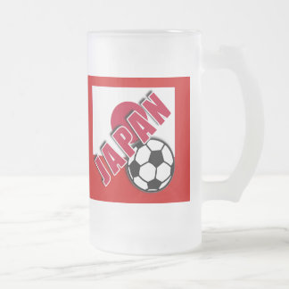 JAPAN World Soccer Fan Tshirts Frosted Glass Mug