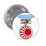 Japanese Ace medal button