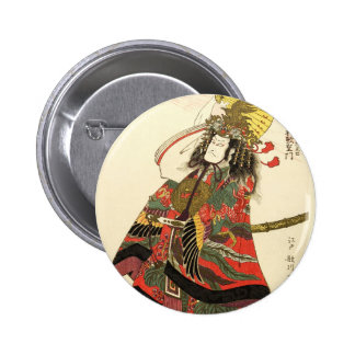 Japanese Actor as a Samurai Military Leader Buttons