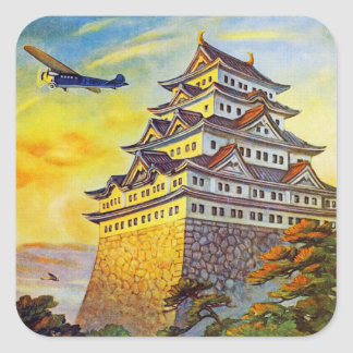 Japanese Air Transport with Pagoda Square Sticker