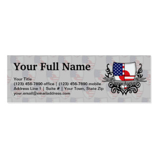 Japanese-American Shield Flag Pack Of Skinny Business Cards