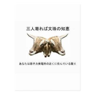 Japanese Anti Nuclear Logo Postcard