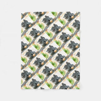Japanese architecture fleece blanket