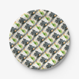 Japanese architecture paper plate